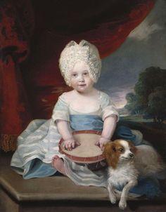 Princess Amelia as a child by John Hoppner, 1785.