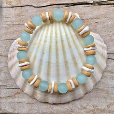 Playa de la joyería pulsera de cristal de mar cultivadas