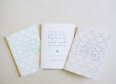 Katy, Pretty Font Cards, Letterpress