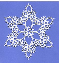 Joy Tatting Pattern PDF Snowflake tatted by TattingPoints on Etsy