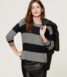 Image of Fuzzy Striped Sweater