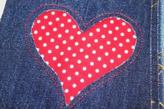 Make a Reverse Appliqué heart pillow for Valentine's Day!