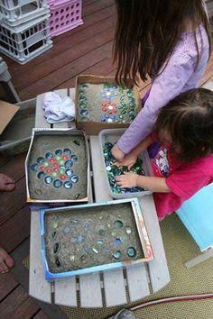 trittsteine basteln mit kindern