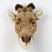 bibib plüsch tiertrophäe giraffe