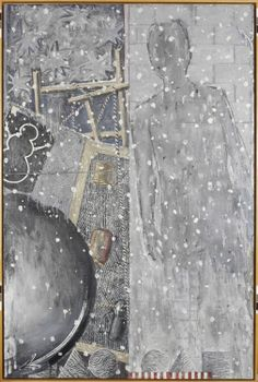 Winter, 1986 - Jasper Johns - Encaustic on canvas. 75 x 50 in. /  Private collection