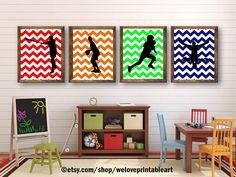 Sports Decor Theme Baby Shower Baby Boy Nursery Art Print