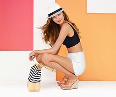 Warm weather style for this spring's music festivals: a sun-shielding fedora, tote for essentials and our Hedy Wedge to stay comfortably on your feet. http://j.mp/1qYxycq #TuesdayShoeday
