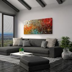 $99 Overstock Carmen Guedez 'Safe and Sound' Canvas Wall Art (24 x 48)