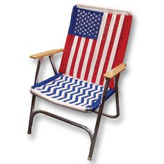 USA Flag Lawn Chair Pattern