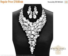 ON SALE Wedding Jewelry Set Crystal by WhiteAisleBoutique on Etsy