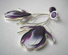 kolczyki - magnolie, Jolanta Bromke