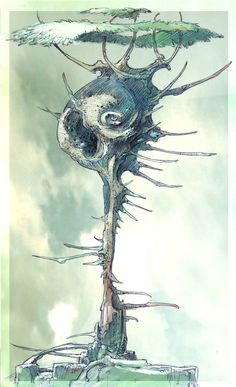 Spiral Age - Bahro tree concept art, from Uru