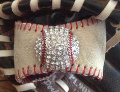 Vintage Baseball Cuff -Elsa