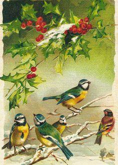 Christmas postcard (Finland) vintage reprint   by katya.