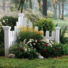 Corner+Fence+Landscaping+Ideas | Dr. Dan's Garden Tips: Getting Creative in the Garden