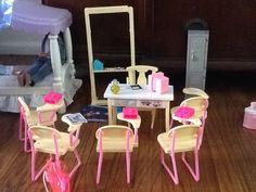 Barbie school room
