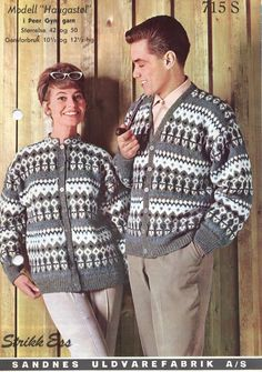 Haugastøl 715 S fra Norwegian Knitting, Men Sweater, Knit Sweaters, Color Combinations, Christmas Sweaters, Knitting Patterns, Winter Jackets, History, Crochet