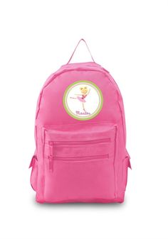 0048f548b889 Ballerina with Blonde Hair Personalized Pink Backpack