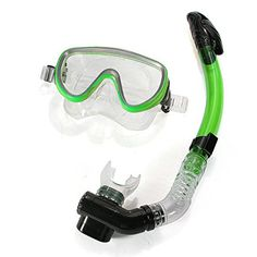 Pink Lizard PVC Diving Swimming Goggles Mask Glasses Dry Snorkel Set * Click image for more details.Note:It is affiliate link to Amazon. #foryouby