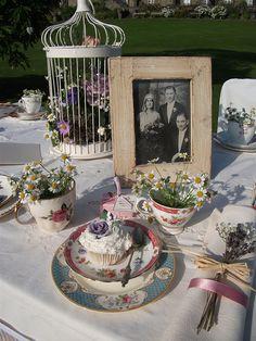 Shabby chic table decor by flowerstudioiom, via Flickr