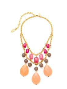 Gold, Jade, & Resin Bib Necklace by David Aubrey - Found at #GiltLive via @Gilt