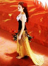 Emmy Rossum as Christine Daaé from The Phantom of the opera.