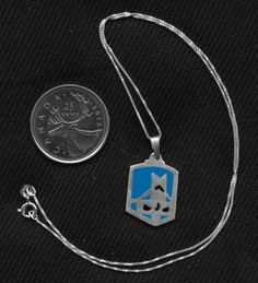 Sterling Silver Castle Crashers Blue Ice Knight Pendant on Etsy for $22.