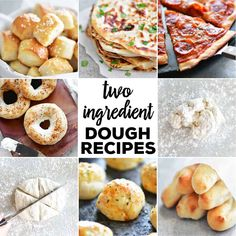 Jun 2019 - This two ingredient dough recipe is super simple to make with no yeast! Just mix it up, knead the dough, and use it as you want. Here are several easy two ingredient dough recipes your family will love from snacks to dinner recipes. 2 Ingredient Recipes, Ww Recipes, Snack Recipes, Dinner Recipes, Dessert Recipes, Cooking Recipes, Recipies, Healthy Recipes For Two, Appetizer Recipes