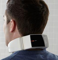 Neck Massager with Wireless Remote Control #wellness #massage #gadget #WearableTech
