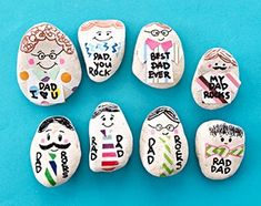 "Create these fun personalized washi tape tie rock paperweights with our DIY ""my dad rocks"" craft tutorial! A great Father's Day present or gift for dad! Diy Father's Day Gifts, Father's Day Diy, Fathers Day Gifts, Gifts For Dad, Creative Activities For Kids, Crafts For Kids, Creative Crafts, Diy Birthday, Birthday Gifts"