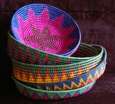 toluca basket, bright colors, palm leaves, functional, handmade, traditional…