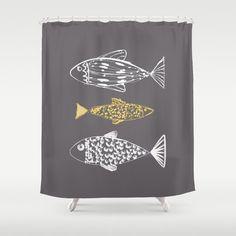 Rideau de douche poissons gris rideau de douche, salle de bains rideaux de douche, décor de bain, chalet de plage SALLE NAUTIQUE, nautique décor de salle de bain moderne   - Couleur de fond  Sil vous plaît sélectionner la couleur dans la liste déroulante ci-dessous. Échantillons couleur est dans la dernière image. Voulez-vous une autre couleur? sil vous plaît contactez-moi. :)   Ce rideau de douche unique, ce est un accent frais et frais dans votre salle de bain.  - Dimensions: 71 x 74 dans…
