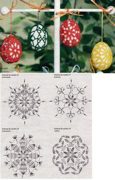 Christmas archives beautiful crochet patterns and knitting patterns – Artofit Crochet Chart, Crochet Motif, Crochet Doilies, Crochet Flowers, Easter Egg Pattern, Easter Crochet Patterns, Doily Patterns, Knitting Patterns, Crochet Christmas Ornaments