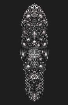 Armour Wolf Tattoo by fallingSarah.deviantart.com on @DeviantArt