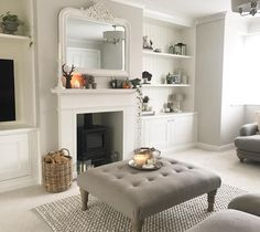 37 Simple Living Room Shelving Ideas for Space Saving Simple Living Room, New Living Room, Home And Living, Small Living, Modern Living, Colours For Living Room, Country Living Rooms, Log Burner Living Room, Cottage Living Rooms