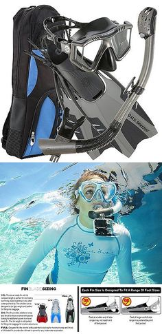 Snorkels and Sets 71162: Snorkeling Packages U.S. Divers Lux Mask Fins Snorkel Gopro Ready Set Metal Aqua -> BUY IT NOW ONLY: $95.86 on eBay!