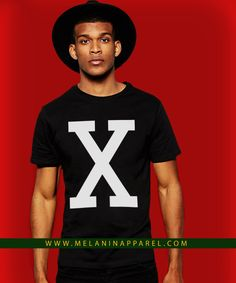 """Retro Malcom """"X"""" T-shirt and hoodie available now. Please visit www.melaninapparel.com"""