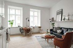 Read 50 Examples Of Beautiful Scandinavian Interior Design Scandinavian Interior Design, Interior Design Inspiration, Design Interior, Apartment Living, Interior And Exterior, Small Spaces, Living Spaces, Living Room, Sweet Home