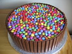 Chocolate smartie cake by christine morgan, via Flickr