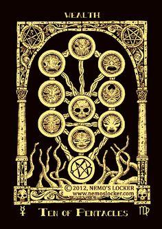 Ten of Pentacles -  Azathoth tarot