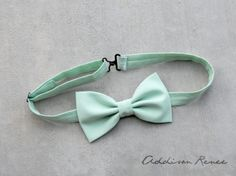 Mens bow tie  MINT GREEN Mens bow tie by ARBboys on Etsy, $16.95