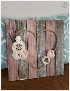 use pallet wood, fence boards, paint sticks or. -Twine Heart With Flowers Sign . use pallet wood, fence boards, paint sticks or. - 38 Cheap Diy Ideas For Home Decor ⋆ ub Birds on a Branch Wall Decor Diy Pallet Projects, Wood Projects, Pallet Ideas, Pallet Crafts, Home Crafts, Diy Crafts, Decor Crafts, Budget Crafts, Reclaimed Wood Beds
