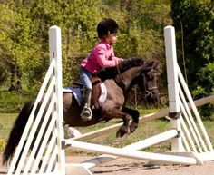 This picture makes me smile :) so adorable! such a willing little pony and such good equitation that tiny little girl already has Like, Comment, Repin !!