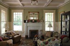 Interior of 1927 Craftsman.  My fav kinda house! Love the ceiling!