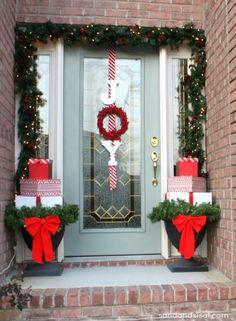 Present Topiaries, Joy Wreath, + Christmas Home Tour