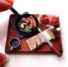 Miniature Kitchen, Miniature Crafts, Miniature Food, Miniature Dolls, Barbie Food, Doll Food, Tiny Food, Fake Food, Food Sculpture