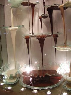 My favorite Chocolate Fountain ever! I want this for my wedding