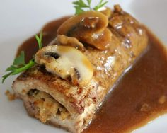 Tofu Turkey Roll-Ups.....here is what Nancy did:  made tofu turkey rolls with stuffed brown rice (brown rice mixture had vegan sausage, celery, onions, garlic) topped with a brown mushroom gravy. With all the spices it tasted like turkey
