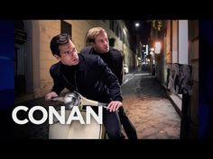 Armie Hammer's Vespa Bromance With Henry Cavill - CONAN on TBS - YouTube