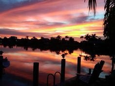 Sunset in Cape Coral, Florida